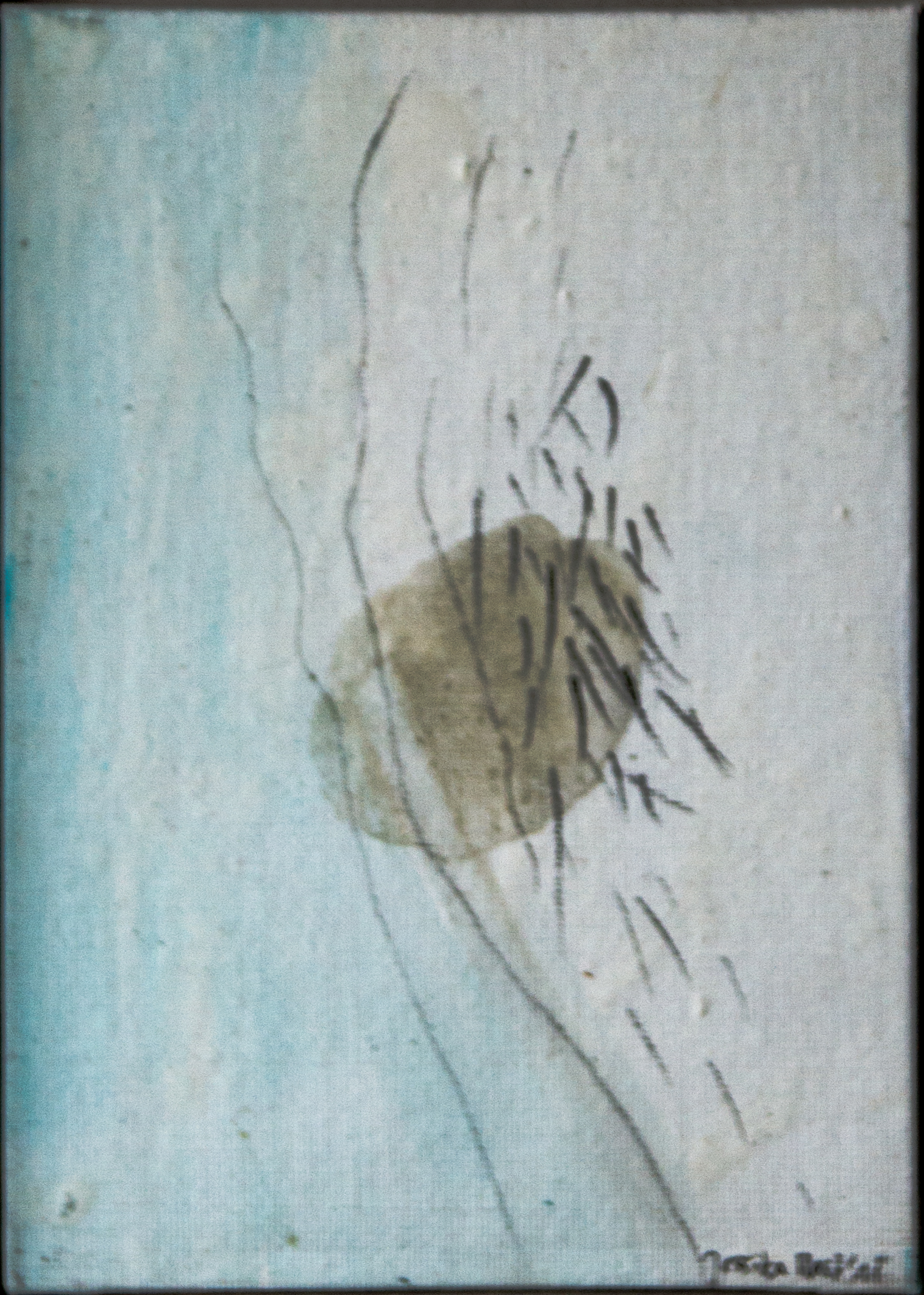 Balance 1: 15x20,Acryl, Gesteinsmehl, Bleistift auf  Leinwandkarton,2016