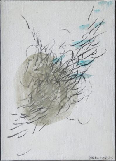 Balance 2: 15x20,Acryl, Gesteinsmehl, Bleistift auf  Leinwandkarton,2016