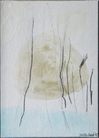 Balance 3: 15x20, Acryl, Gesteinsmehl, Bleistift auf  Leinwandkarton, 2016