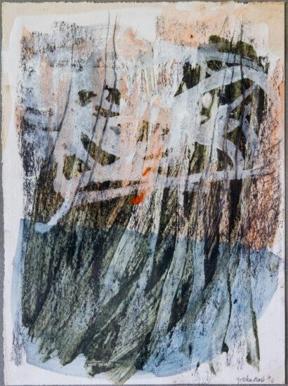 Hoffnungsschimmer: 24x30,Eitempera, Asche, Pigmente, Graphit, auf Papier,2016