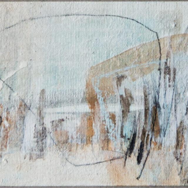 Land 2: 15x20,Acryl, Gesteinsmehle, Kreide, Bleistift auf Papier,2012