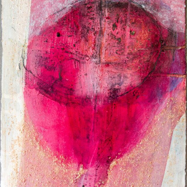 Ohne Titel: 24x30,Eitempera, Acryl, Gesteinsmehle, Graphit, Bleistift, Kreide auf Papier,2017