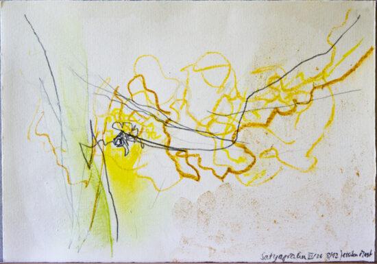 Satyagraha III: 26-teilige Serie,Gesteinsmehle, Kreide, Bleistift, Pigmente auf Papier,August 2012