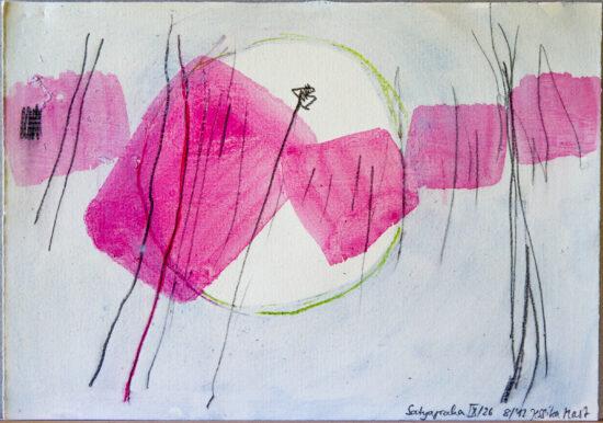 Satyagraha IX: 26-teilige Serie,Gesteinsmehle, Kreide, Bleistift, Pigmente auf Papier,August 2012