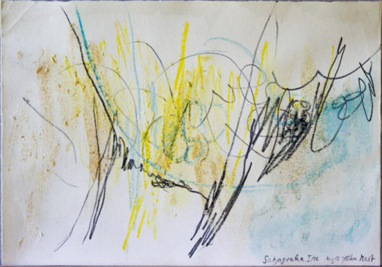 Satyagraha I: 26-teilige Serie,Gesteinsmehle, Kreide, Bleistift, Pigmente auf Papier,August 2012