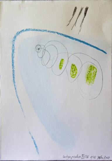 Satyagraha XII: 26-teilige Serie,Gesteinsmehle, Kreide, Bleistift, Pigmente auf Papier,August 2012