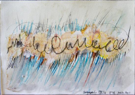 Satyagraha XIX: 26-teilige Serie,Gesteinsmehle, Kreide, Bleistift, Pigmente auf Papier,August 2012