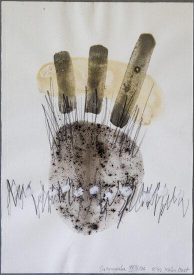 Satyagraha XXIII: 26-teilige Serie,Gesteinsmehle, Kreide, Bleistift, Pigmente auf Papier,August 2012