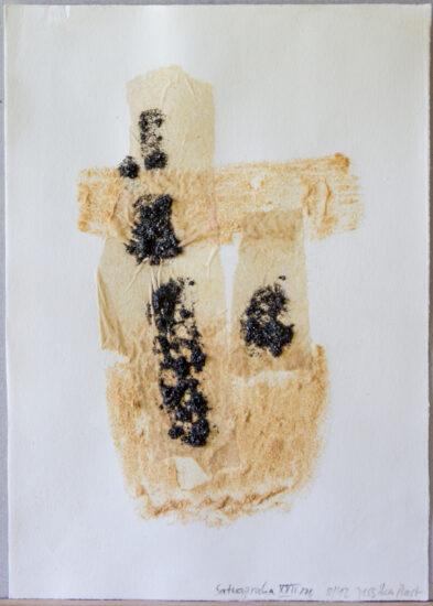 Satyagraha XXII: 26-teilige Serie,Gesteinsmehle, Kreide, Bleistift, Pigmente auf Papier,August 2012