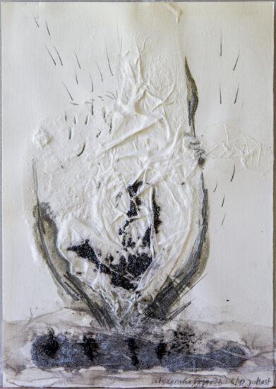 Satyagraha XXVI: 26-teilige Serie,Gesteinsmehle, Kreide, Bleistift, Pigmente auf Papier,August 2012