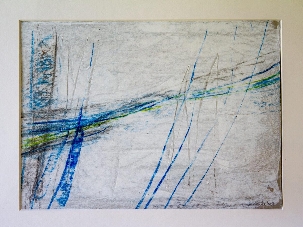 Verweht: 30x40,Acryl, Kreide auf Pappe,2010