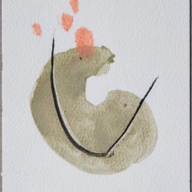 Weiter 1: 15x20,Acryl, Gesteinsmehl, Kohle, Buntstift auf Papier,2015