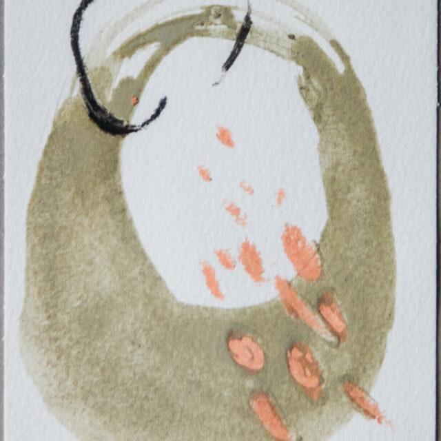 Weiter 3: 15x20,Acryl, Gesteinsmehl, Kohle, Buntstift auf Papier,2015