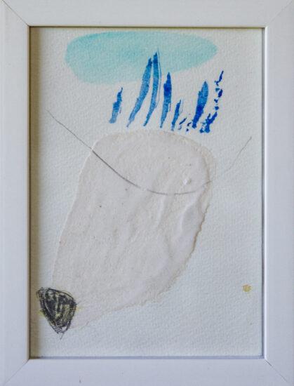 Winterweiß 2: 15x20,Acryl, Gesteinsmehle, Bleistift auf Papier,2014