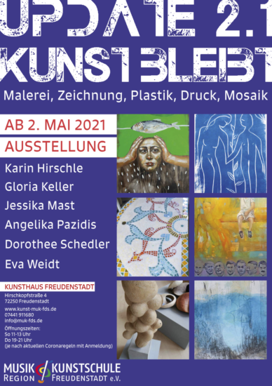 Flyer Kunst bleibt Ausstellung Kunstschule Freudenstadt